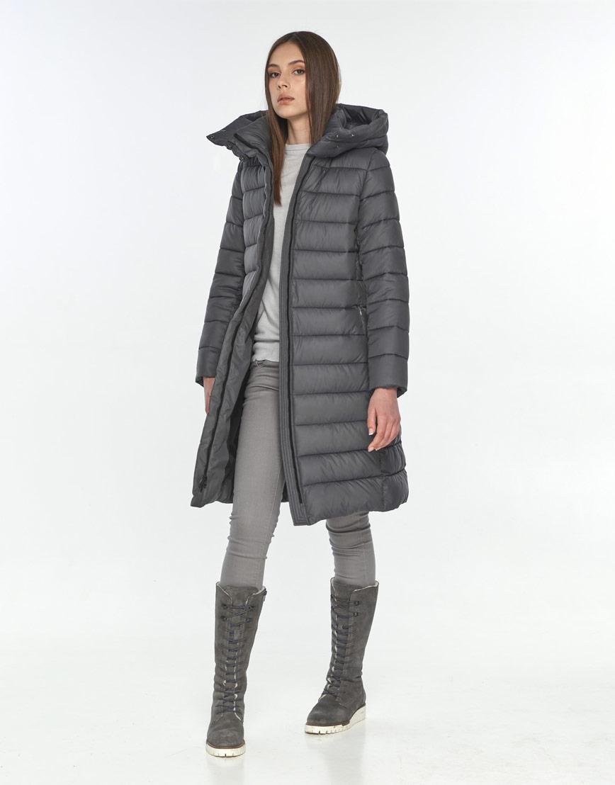 Фирменная зимняя куртка Wild Club серая подростковая для девушки 522-65 фото 1