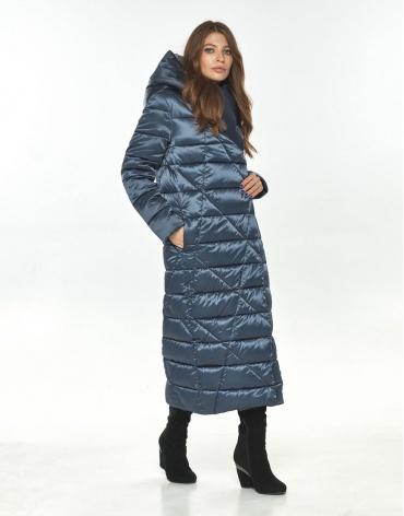 Брендовая синяя женская куртка большого размера Ajento 23795 фото 1
