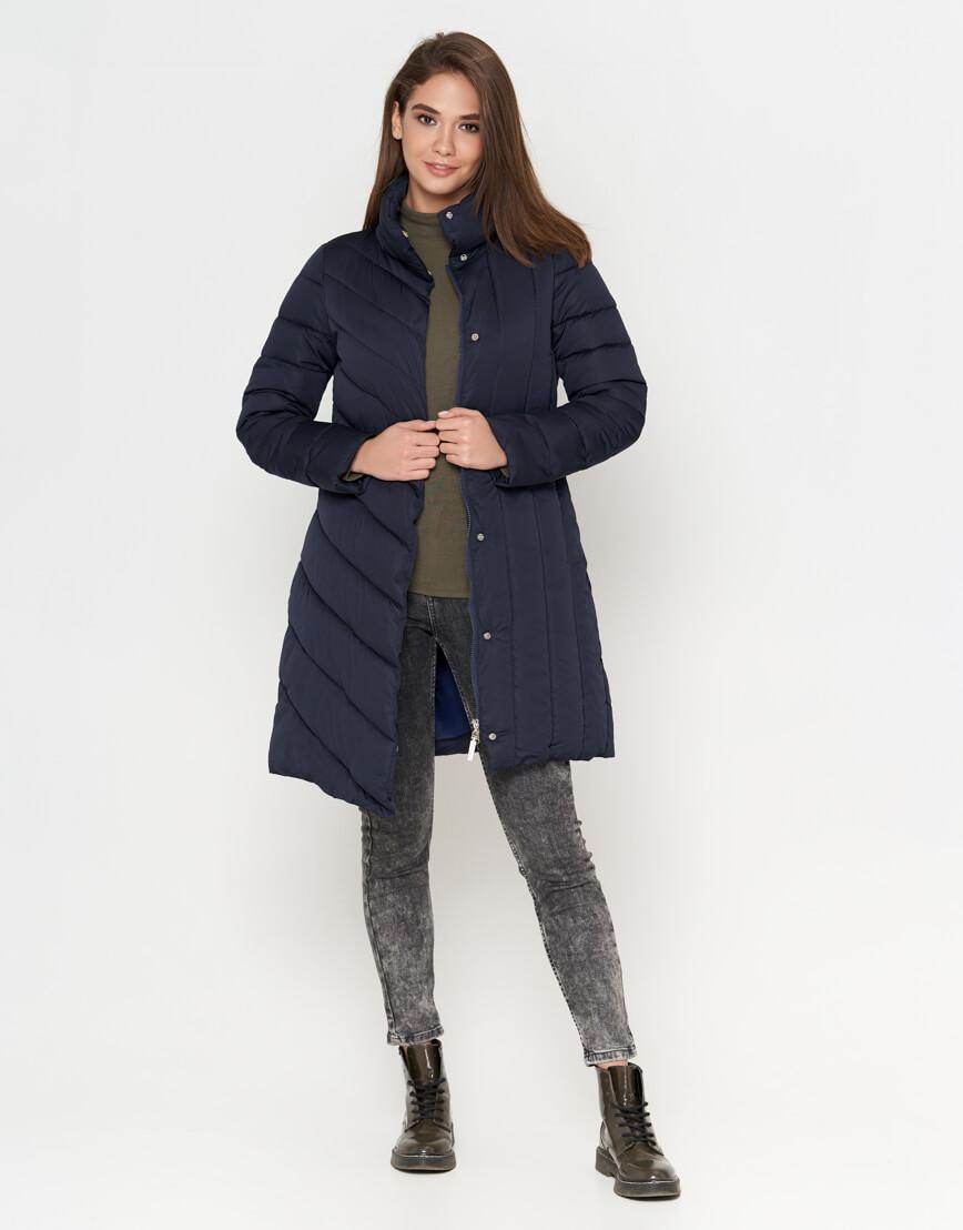 Куртка синяя на молнии женская модель 9082 фото 2
