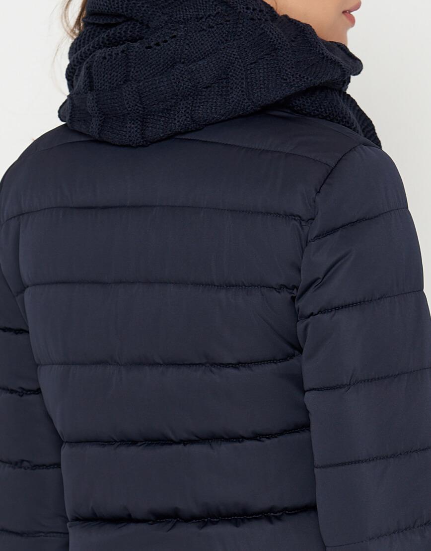 Куртка синяя на молнии женская модель 9082 фото 6