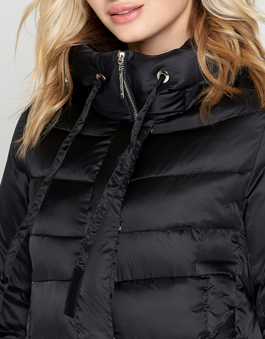 Черный зимний воздуховик женский Braggart модель 29775 оптом