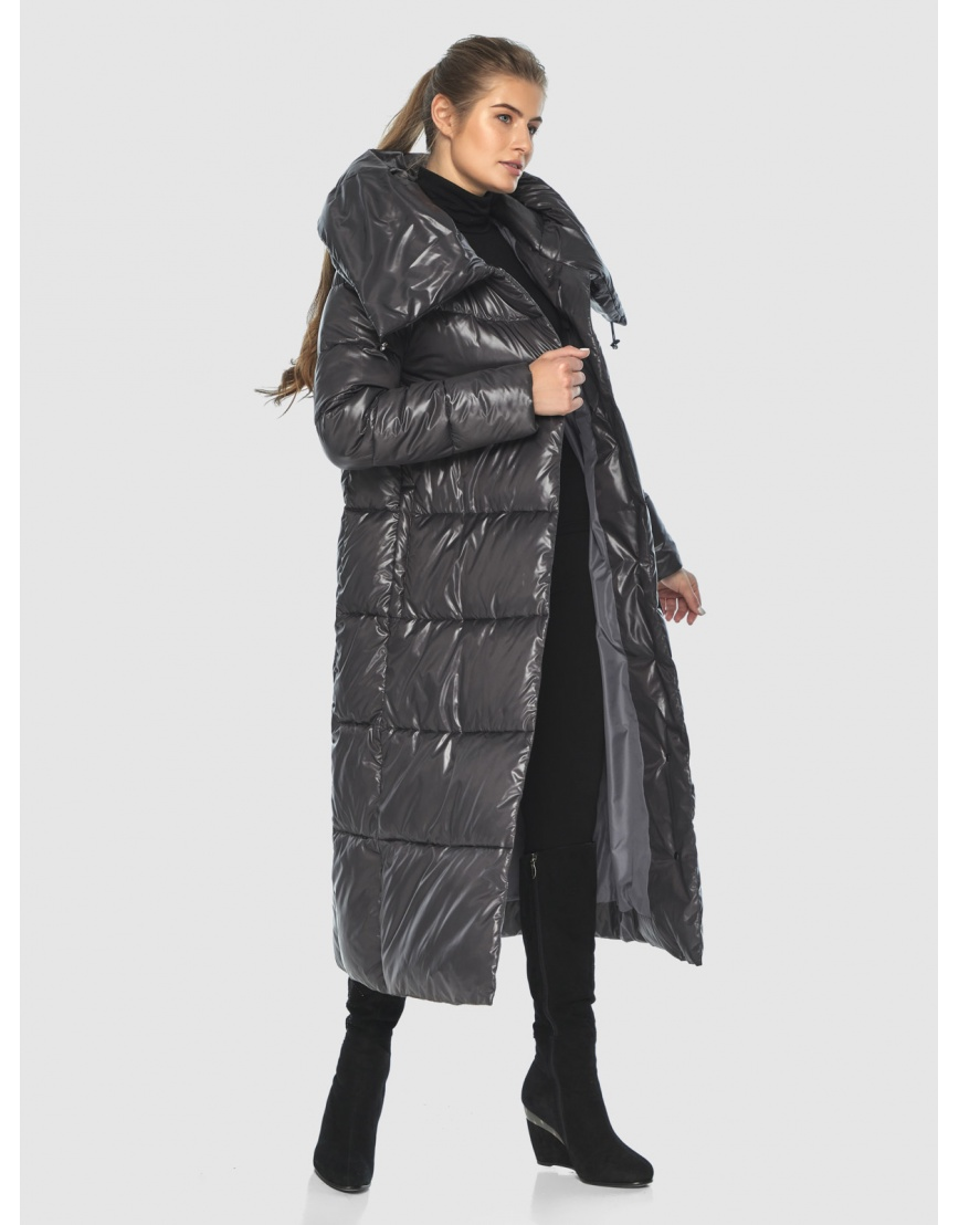 Женская тёплая куртка Ajento серая 21550 фото 5
