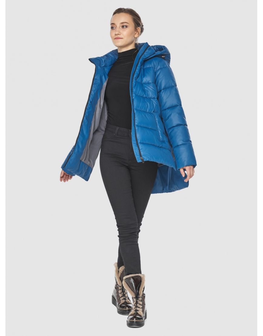 Куртка синего цвета женская Wild Club 526-85 фото 2