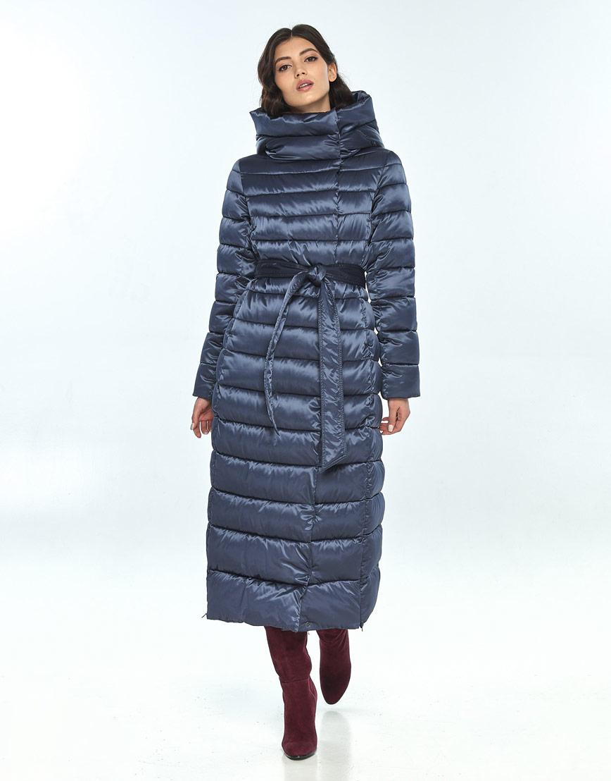 Удобная синяя куртка большого размера женская Vivacana 8320/21 фото 1