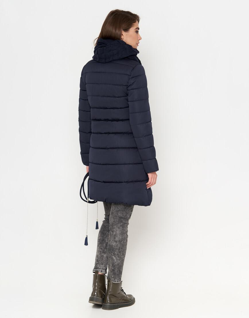 Куртка синяя на молнии женская модель 9082 фото 4