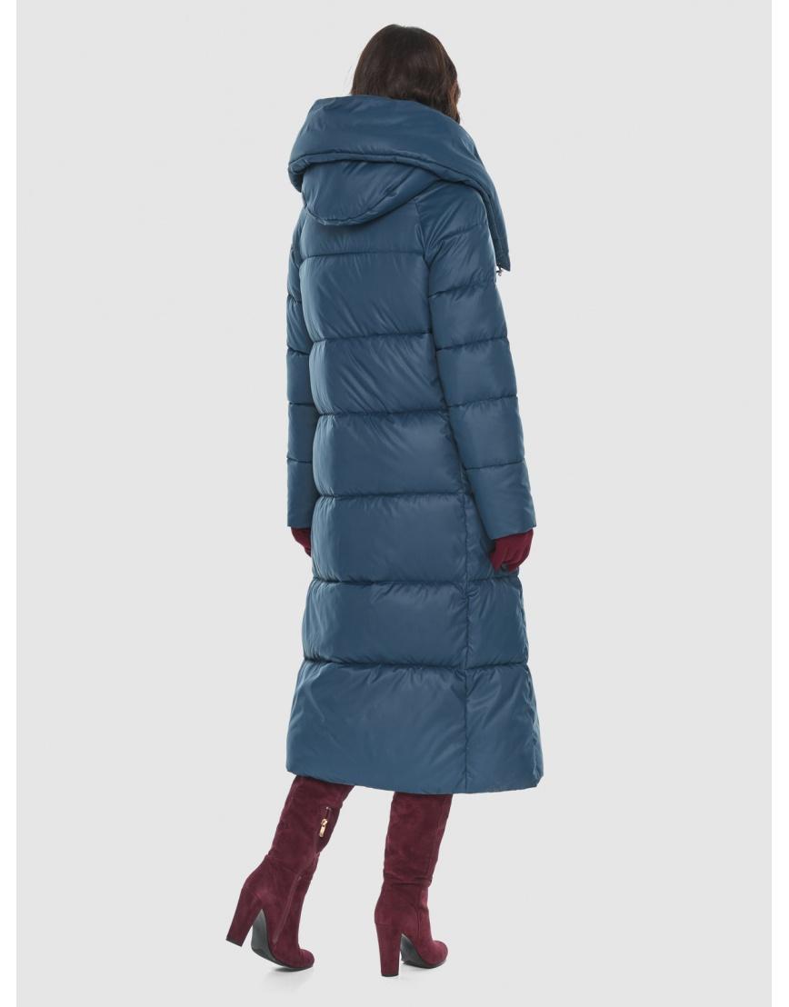 Тёплая женская длинная куртка Vivacana синяя 9150/21 фото 4
