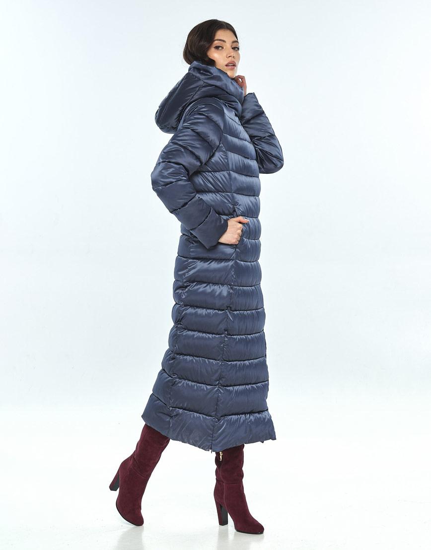 Удобная синяя куртка большого размера женская Vivacana 8320/21 фото 2