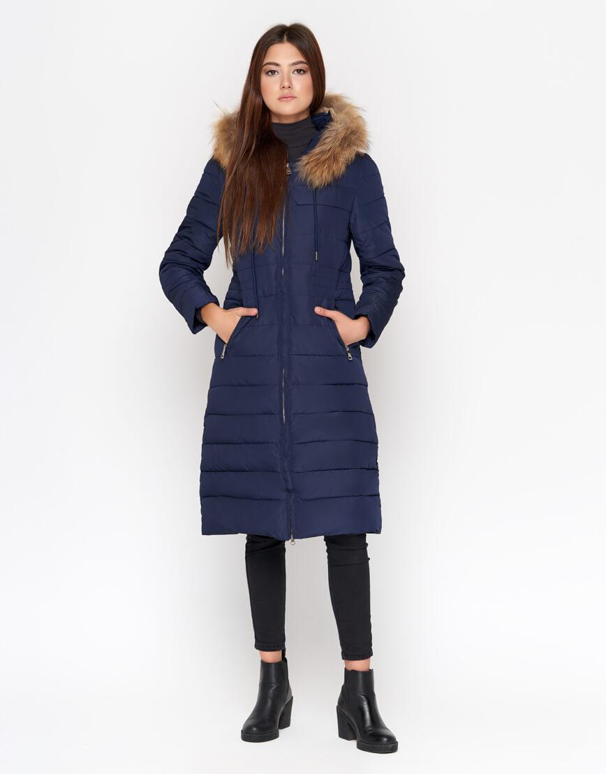 Куртка женская синего цвета трендовая модель 9615 фото 2