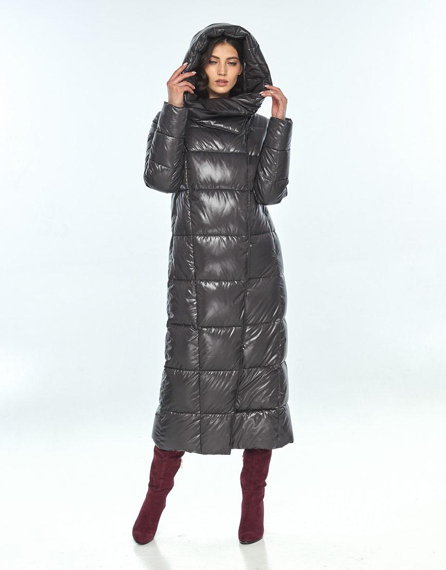 Серая женская стильная куртка Vivacana на зиму 8706/21 фото 1