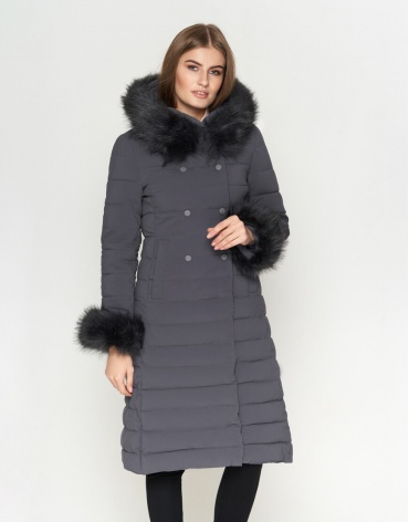 Комфортная женская куртка цвет серый модель 6612 фото 1