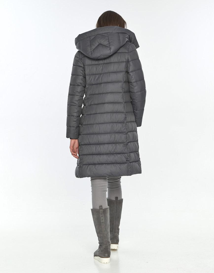 Фирменная зимняя куртка Wild Club серая подростковая для девушки 522-65 фото 3