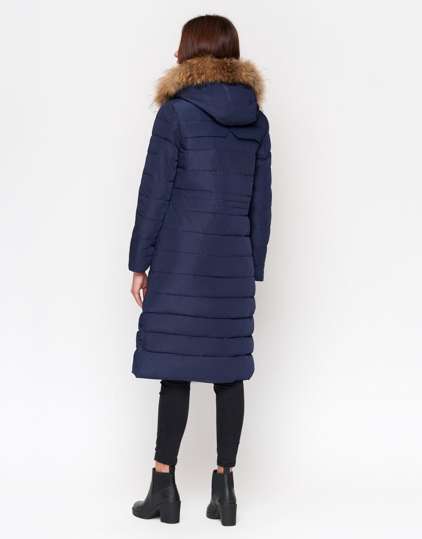 Куртка женская синего цвета трендовая модель 9615 фото 3