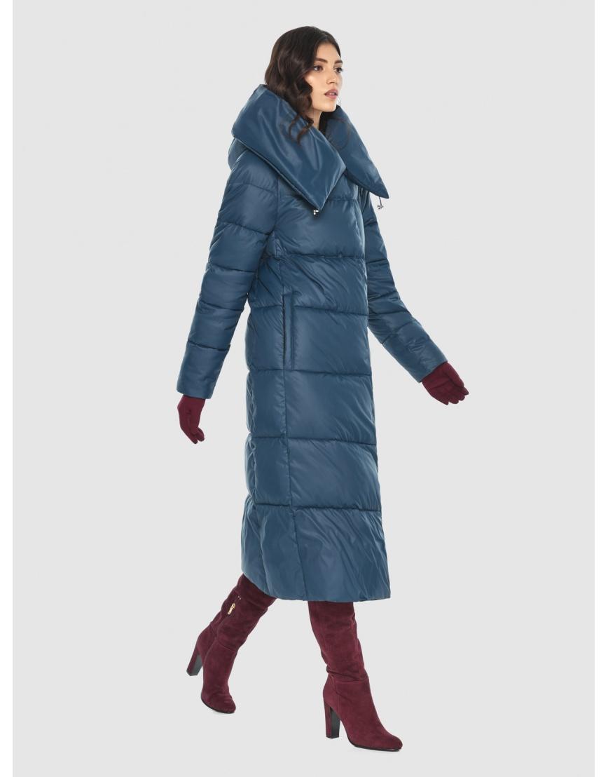 Тёплая женская длинная куртка Vivacana синяя 9150/21 фото 1