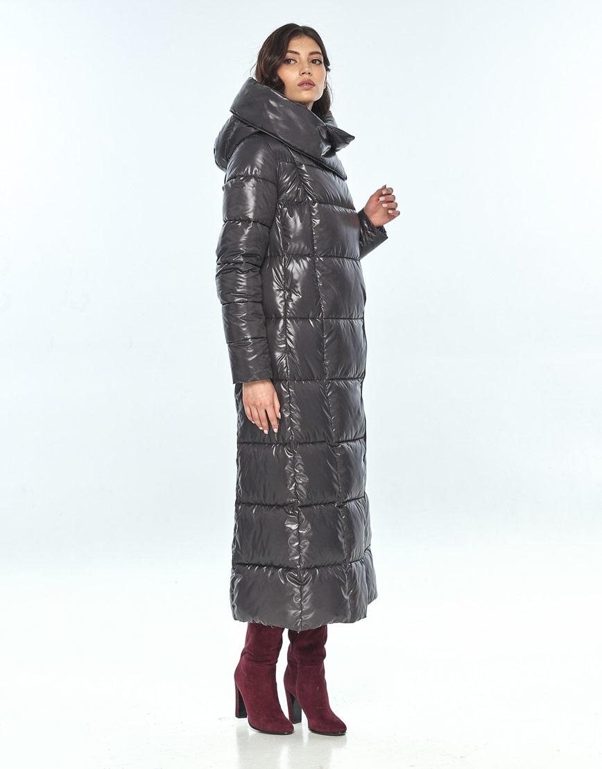 Серая женская стильная куртка Vivacana на зиму 8706/21 фото 2