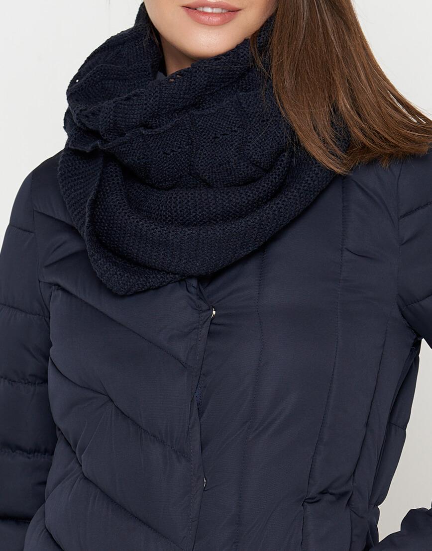 Куртка синяя на молнии женская модель 9082 фото 5