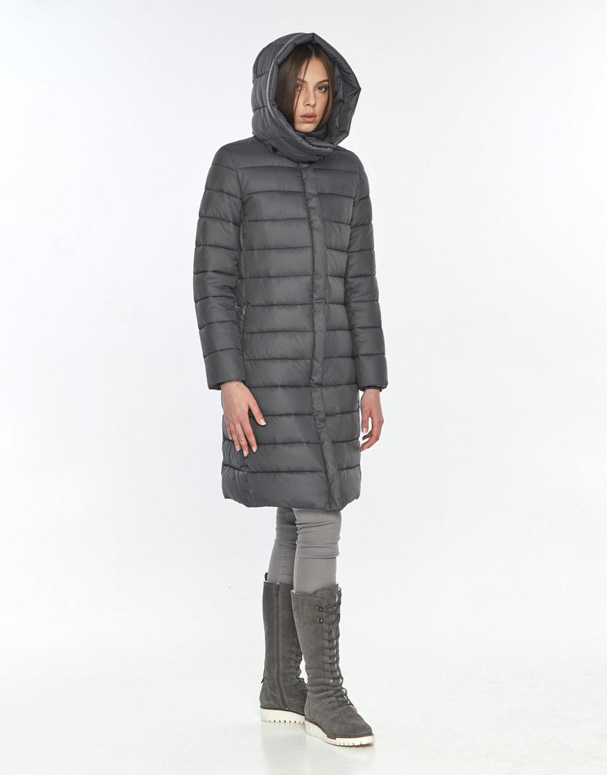 Фирменная зимняя куртка Wild Club серая подростковая для девушки 522-65 фото 2
