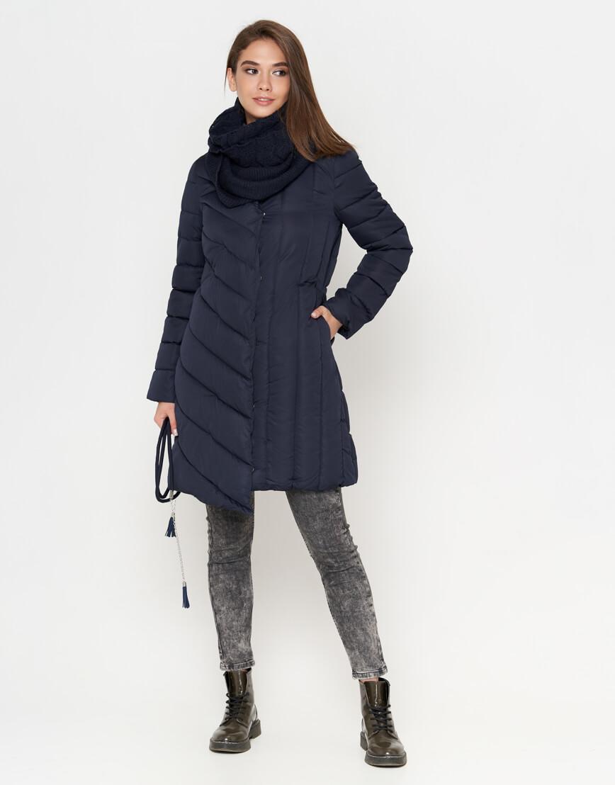 Куртка синяя на молнии женская модель 9082 фото 3