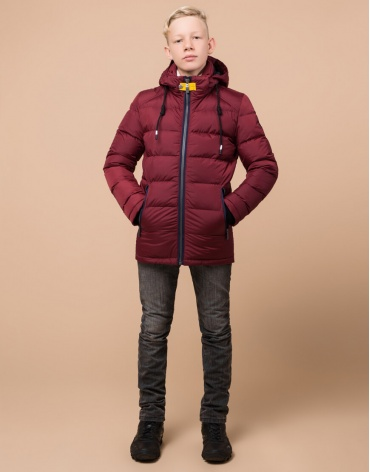 Фирменная детская куртка бордовая модель 60455