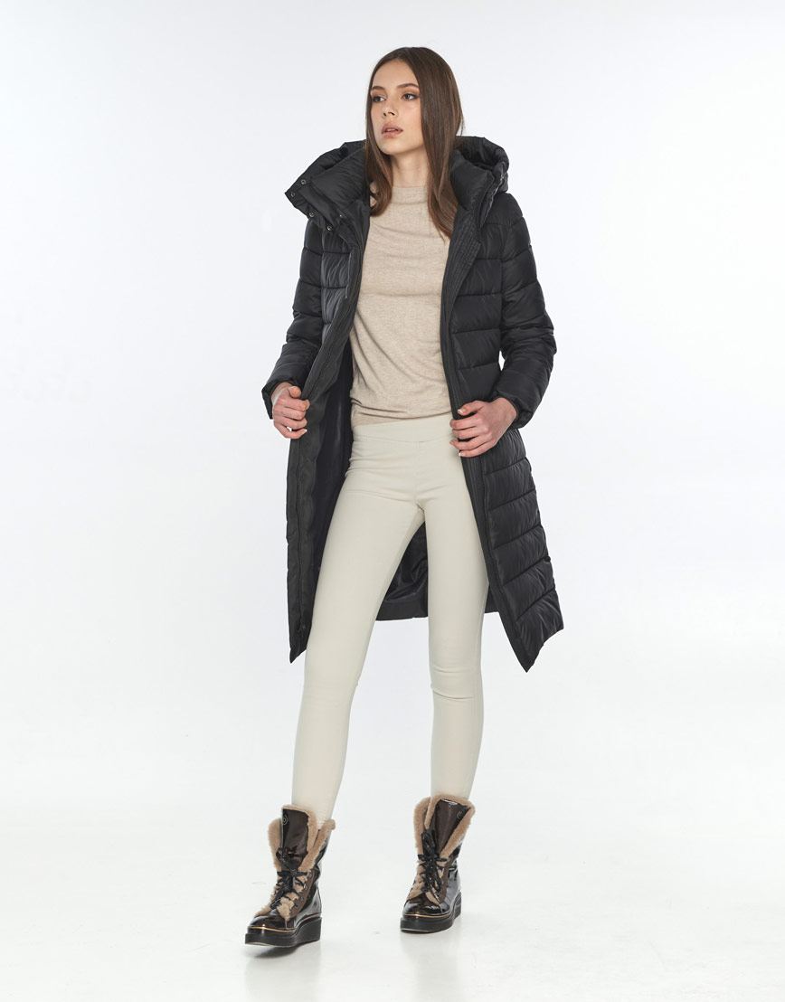 Зимняя куртка чёрная Wild Club женская 522-65 фото 2