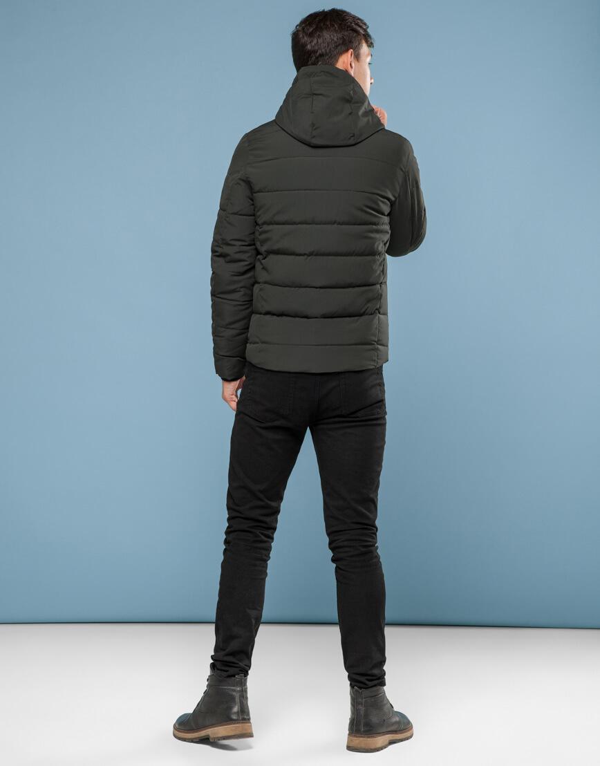 Практичная подростковая зеленая куртка модель 6009-1 фото 4