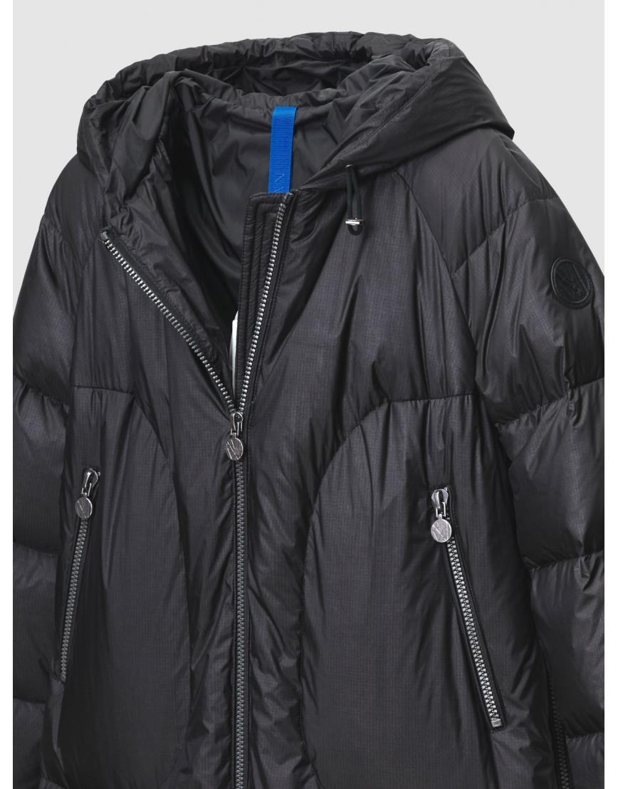48 – последний размер – зимний длинный чёрный пуховик женский Naumi 200064 фото 3