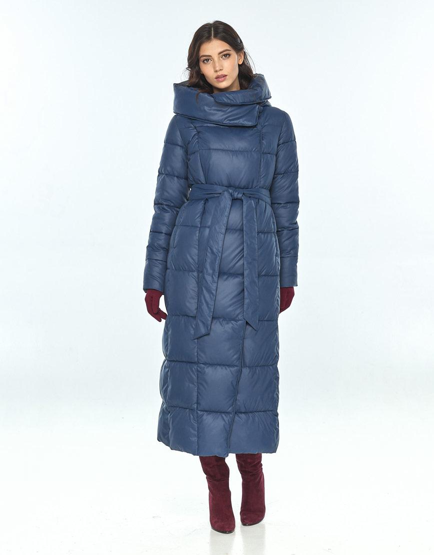 Женская зимняя синяя куртка Vivacana трендовая 8706/21 фото 1