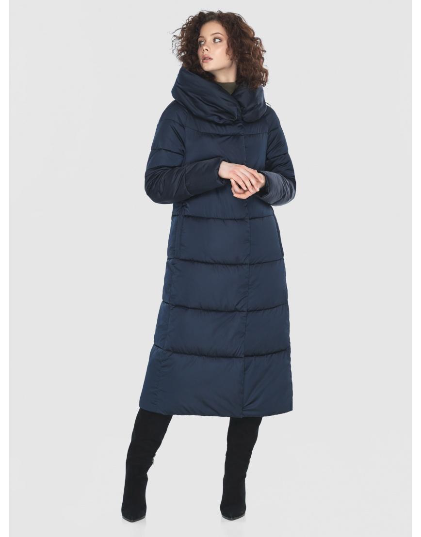 Куртка Moc синяя женская стёганая M6530 фото 3