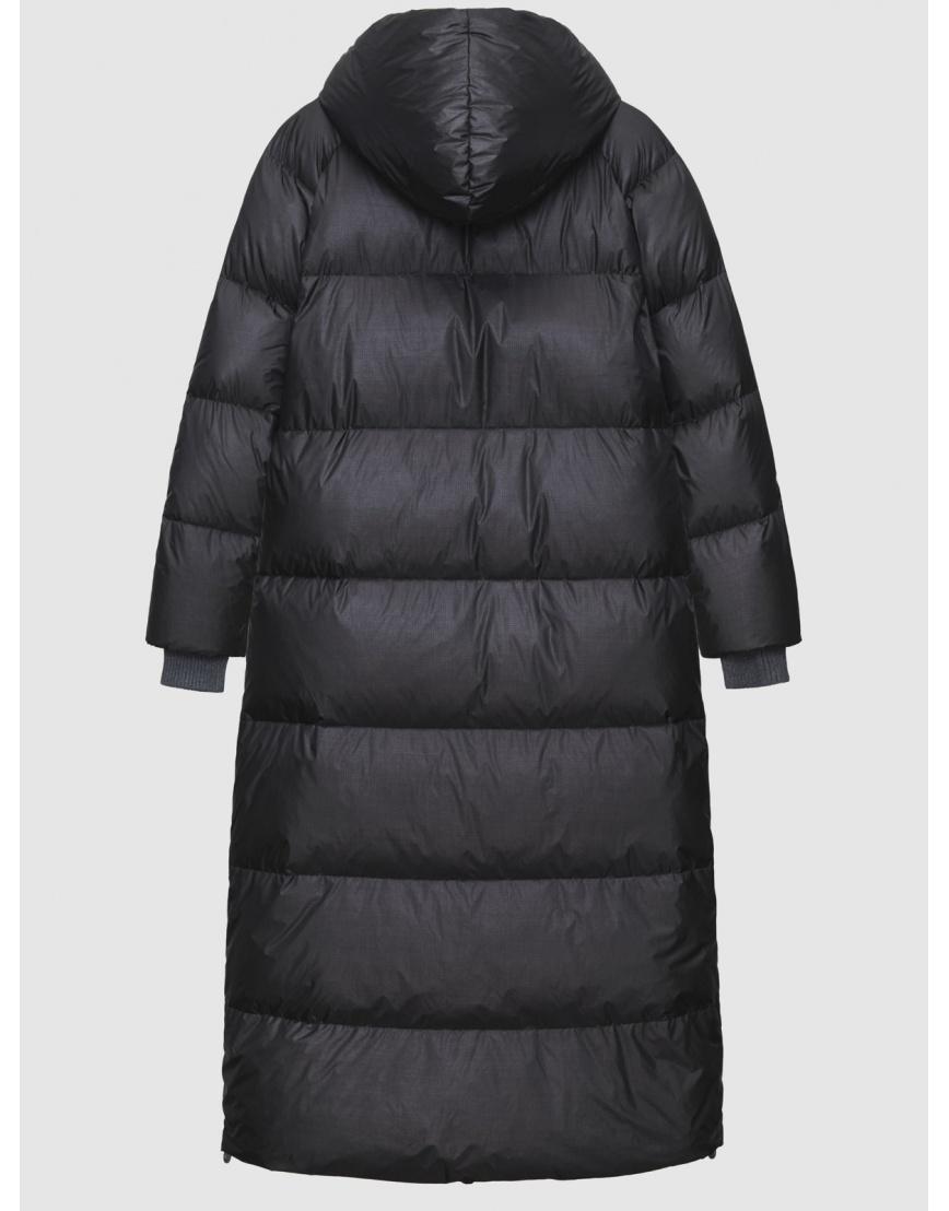 48 – последний размер – зимний длинный чёрный пуховик женский Naumi 200064 фото 2