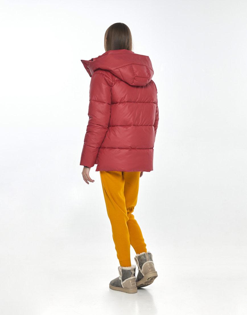 Красная куртка стильная подростковая Vivacana 7354/21 фото 3