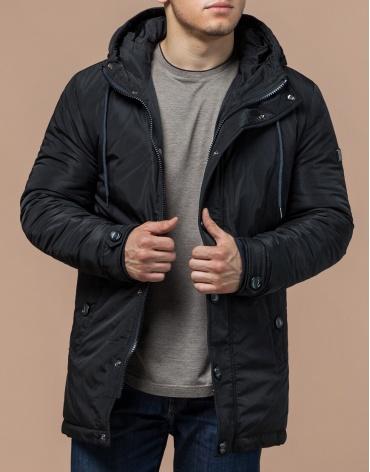 Зимняя куртка графитовая мужская модель 4282 оптом