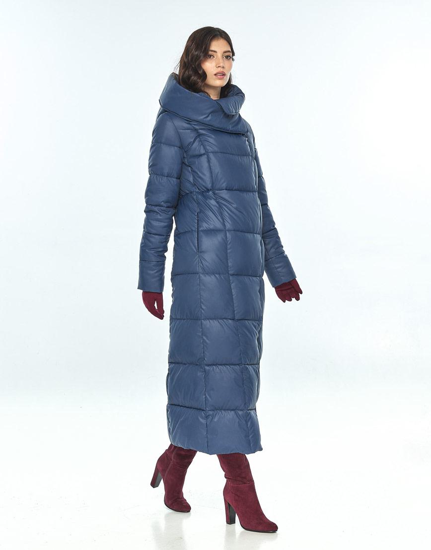 Женская зимняя синяя куртка Vivacana трендовая 8706/21 фото 2