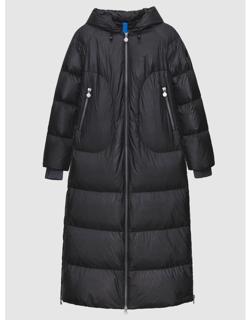48 – последний размер – зимний длинный чёрный пуховик женский Naumi 200064 фото 1
