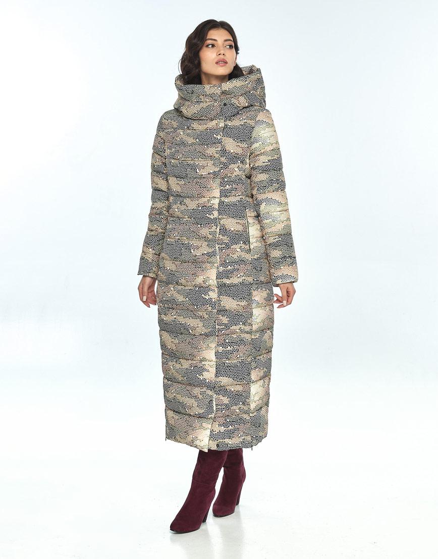 Оригинальная куртка большого размера с рисунком женская Vivacana 8320/21 фото 1