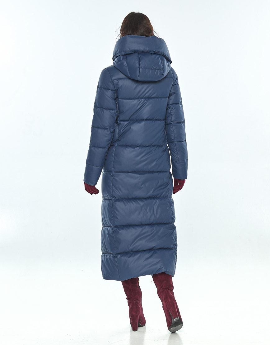 Женская зимняя синяя куртка Vivacana трендовая 8706/21 фото 3