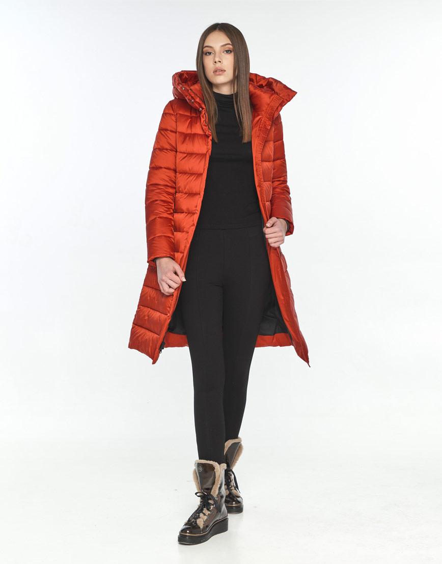 Оригинальная красная куртка подростковая Wild Club на зиму 522-65 фото 2