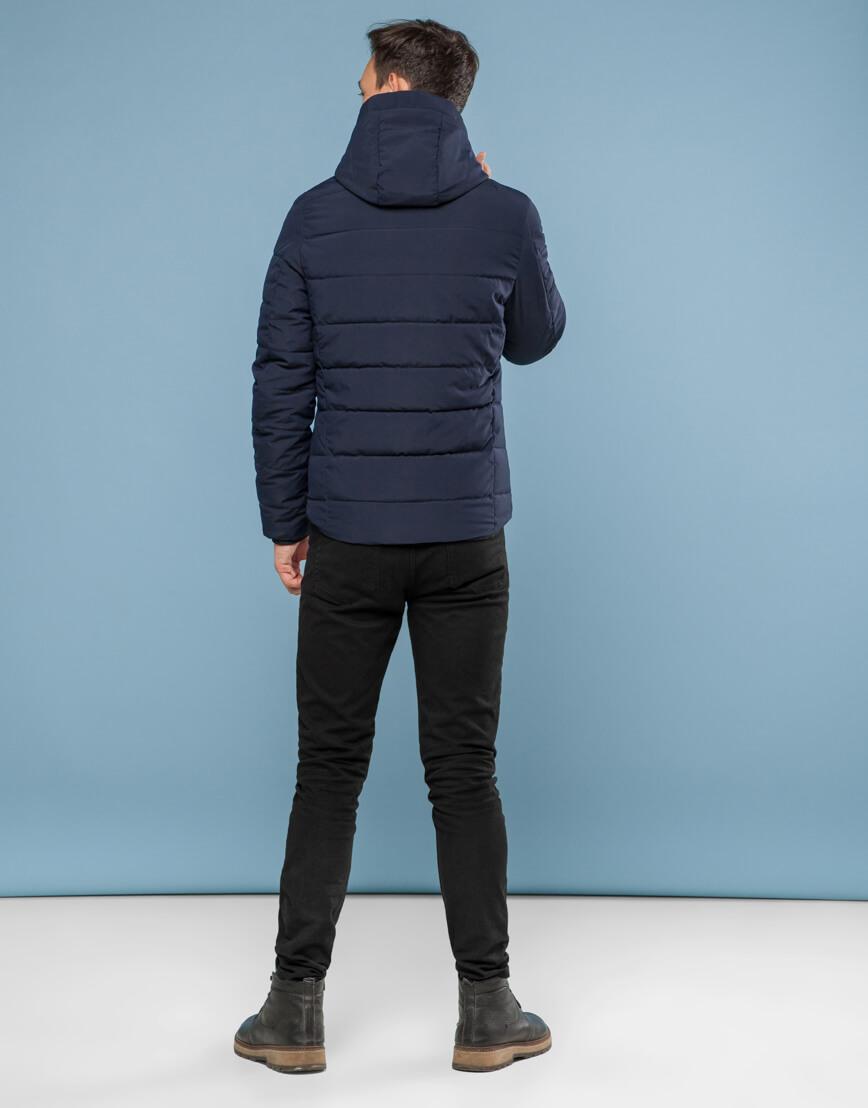 Темно-синяя подростковая комфортная куртка модель 6009 фото 4