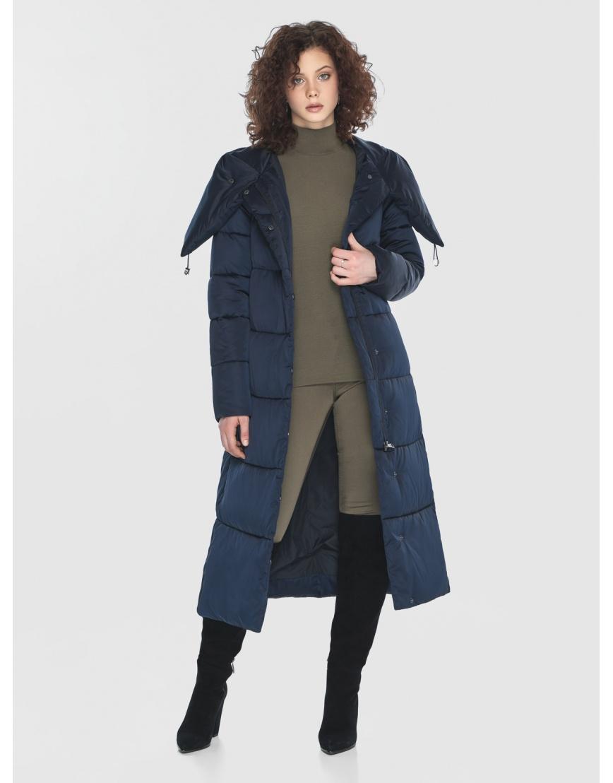 Куртка Moc синяя женская стёганая M6530 фото 6