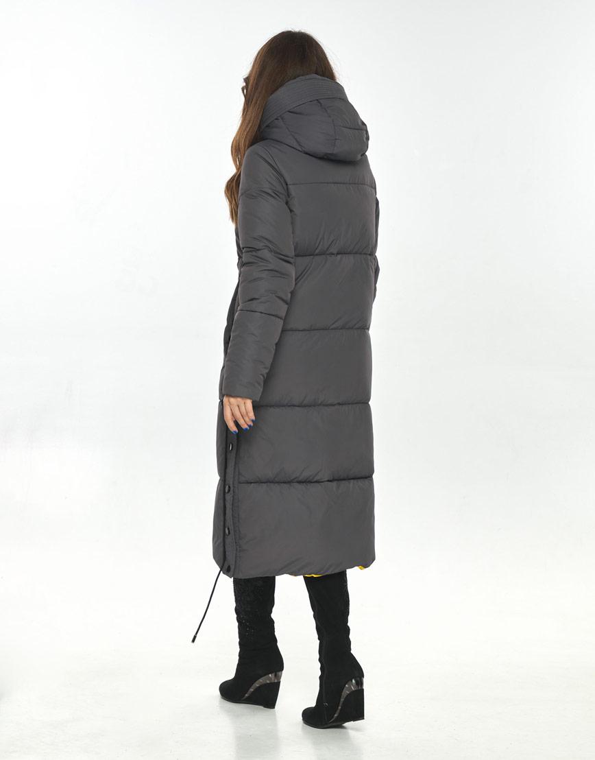 Длинная куртка серая женская Ajento комфортная 23160 фото 3