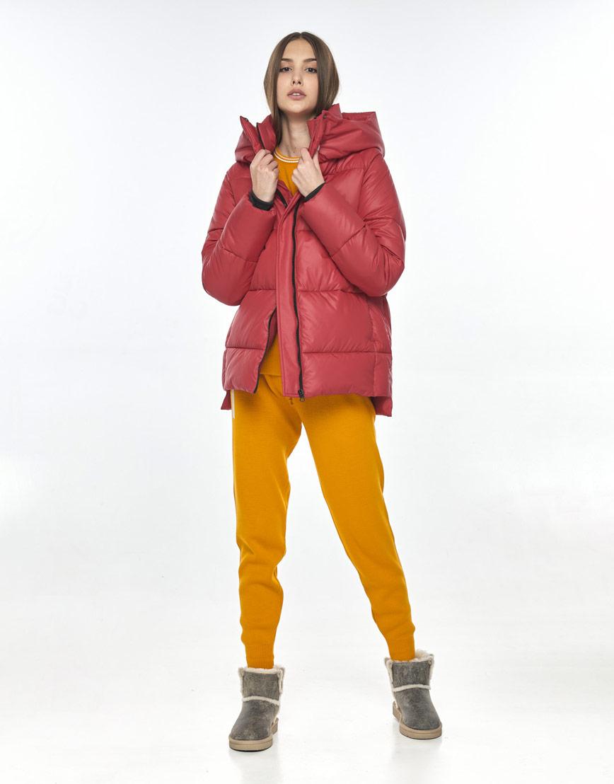 Красная куртка стильная подростковая Vivacana 7354/21 фото 2