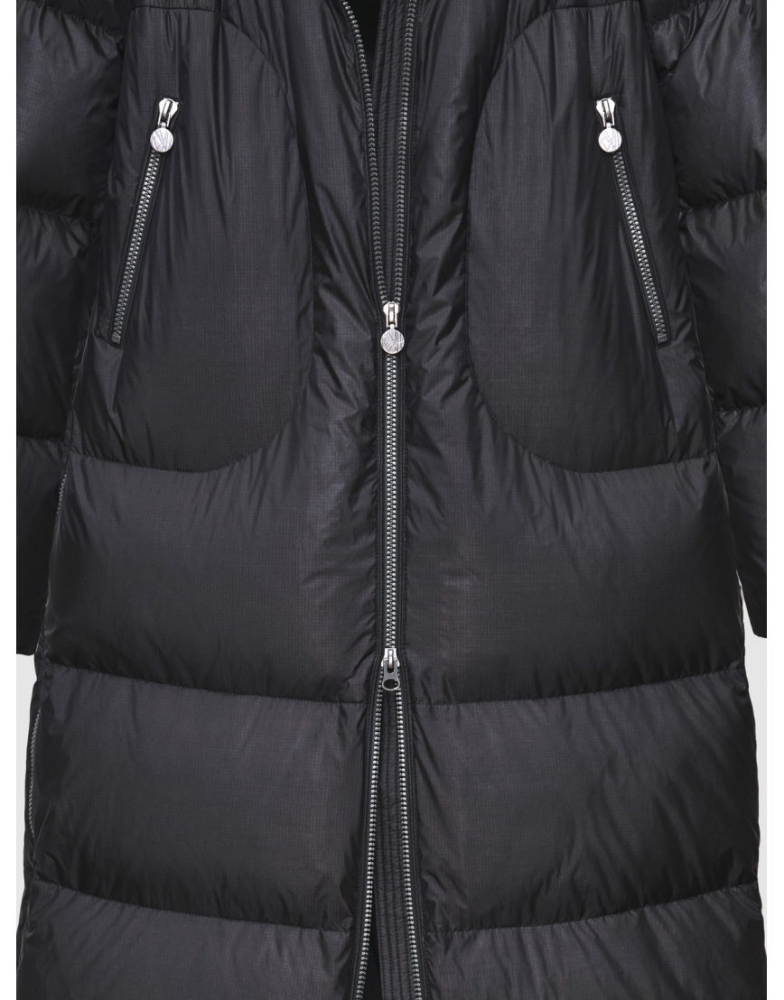 48 – последний размер – зимний длинный чёрный пуховик женский Naumi 200064 фото 4