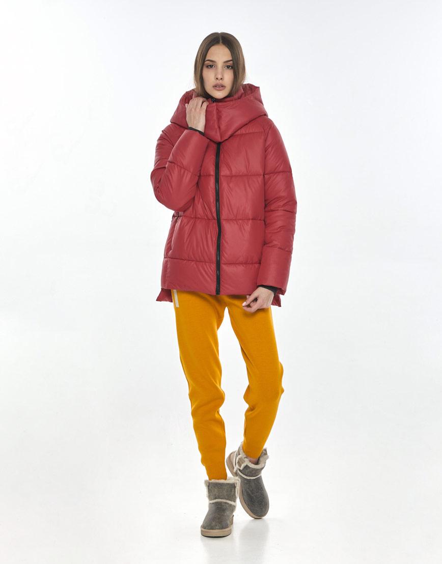 Красная куртка стильная подростковая Vivacana 7354/21 фото 1