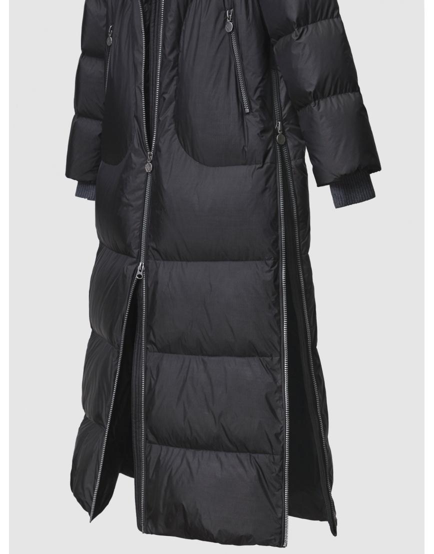 48 – последний размер – зимний длинный чёрный пуховик женский Naumi 200064 фото 5