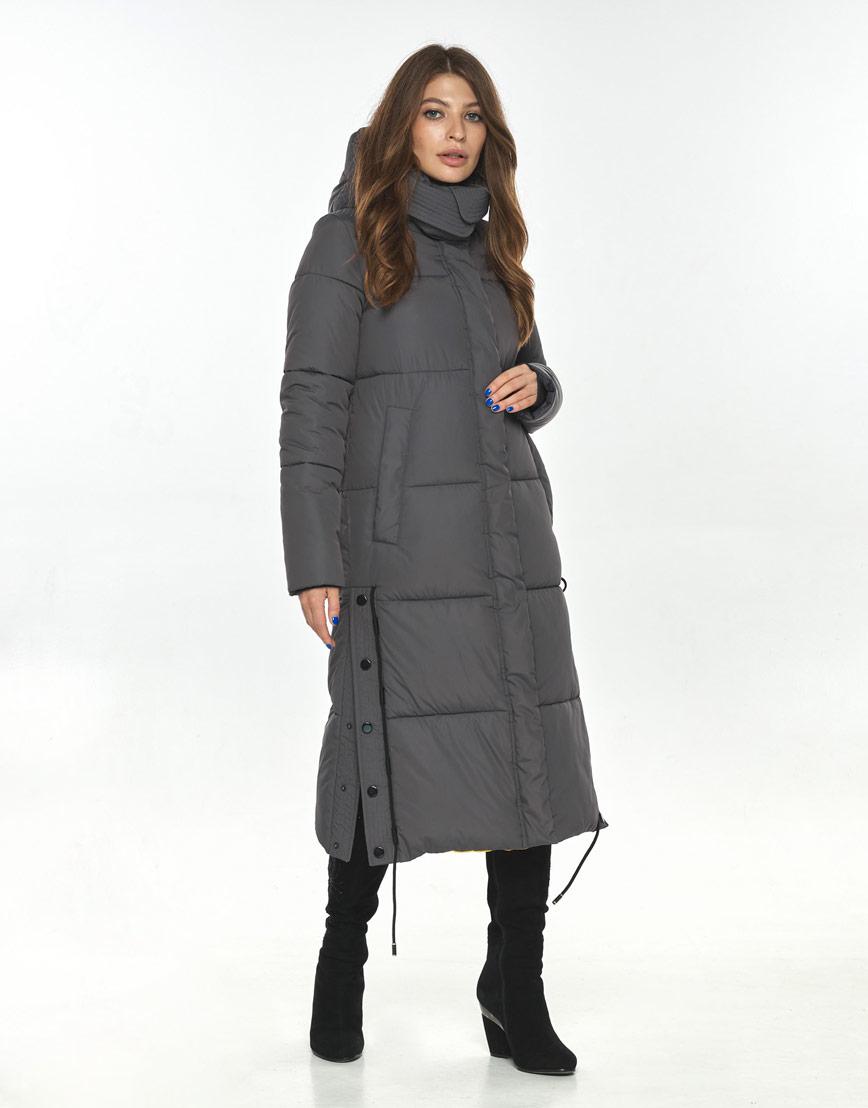 Длинная куртка серая женская Ajento комфортная 23160 фото 1