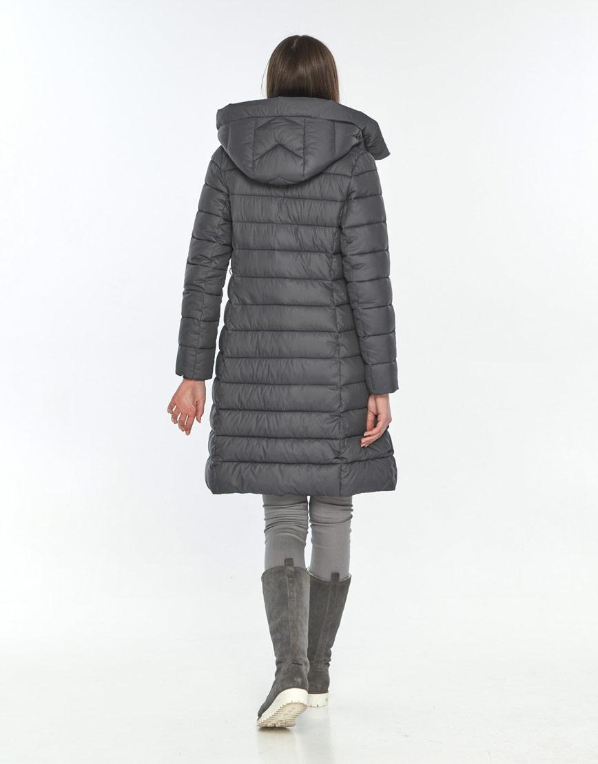 Стильная зимняя куртка женская Wild Club серая 522-65 фото 3