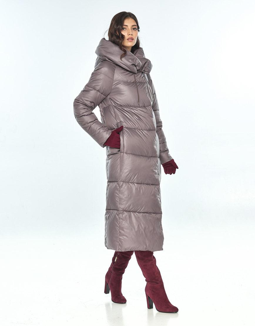 Практичная куртка пудровая женская Vivacana для зимы 9150/21 фото 2