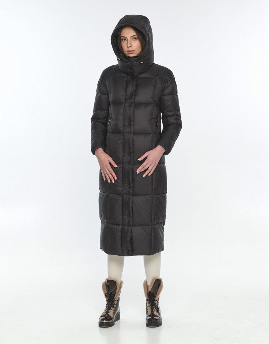 Оригинальная чёрная куртка женская Wild Club на зиму 541-74 фото 1