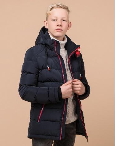 Темно-синяя детская куртка модная модель 60455