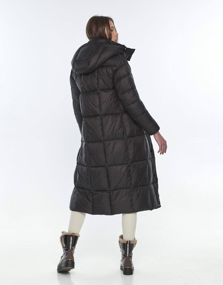 Оригинальная чёрная куртка женская Wild Club на зиму 541-74 фото 3