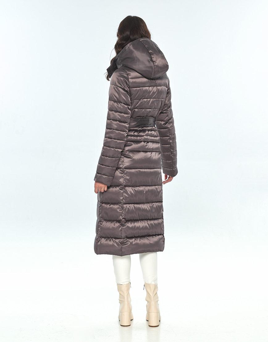 Модная капучиновая куртка большого размера женская Vivacana 8140/21 фото 3