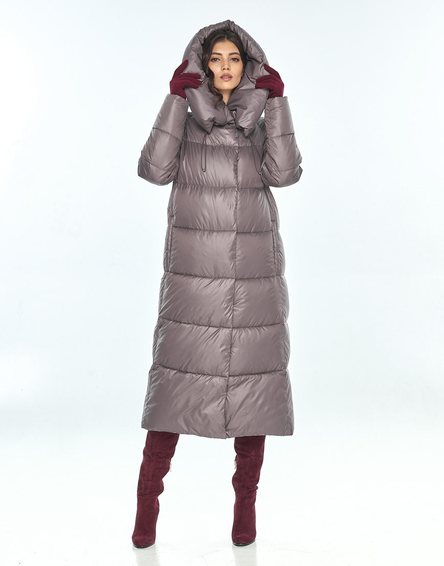 Практичная куртка пудровая женская Vivacana для зимы 9150/21 фото 1